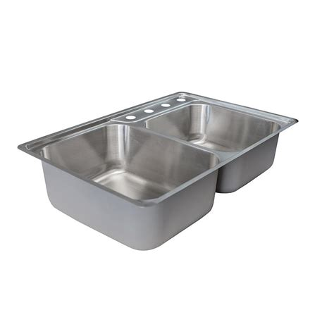 Franke Stainless Steel Kitchen Sink Franke Evolution Drop In Stainless Steel 34 In 4 Offset Basin Kitchen Sink Evcag904