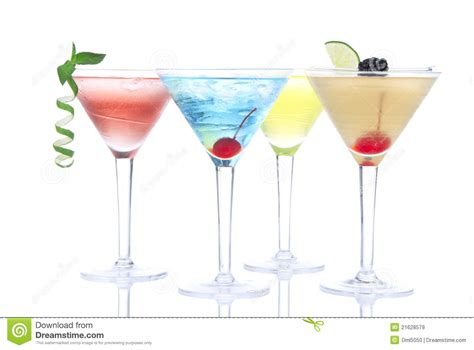 Tropical Martini Cocktails With Vodka Stock Image Image