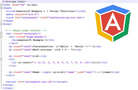 html tutorial lessons angularjs tutorial lesson 1