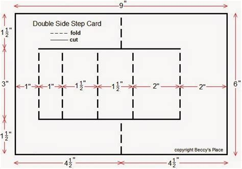 side stepper card template free beccy s place tutorial side step cards