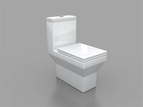 square toilet square toilet one piece 3d model 3ds max files free