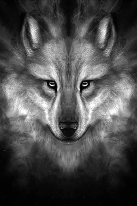 wallpaper iphone 6 wolf freeios7 wolf face story center parallax hd iphone