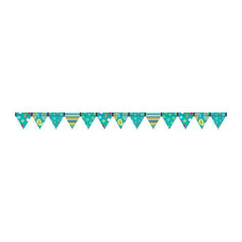 dot pattern border dots on turquoise pennant border english wooks