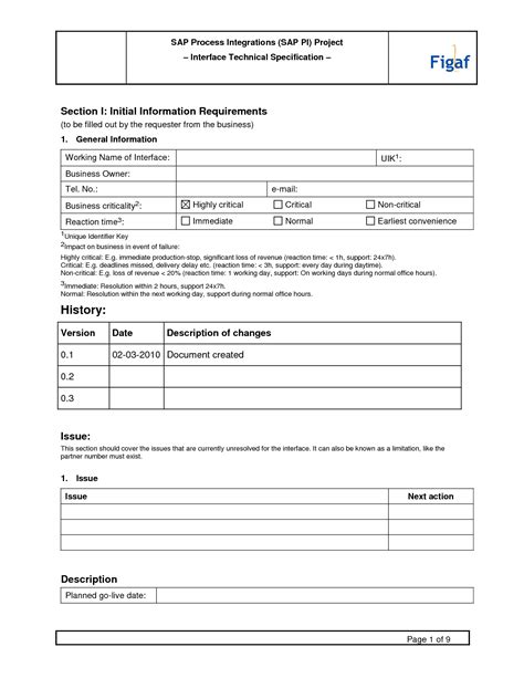 report specification document template functional specification template playbestonlinegames