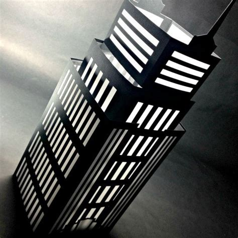 nyc luminary empire state building cut paper lantern home