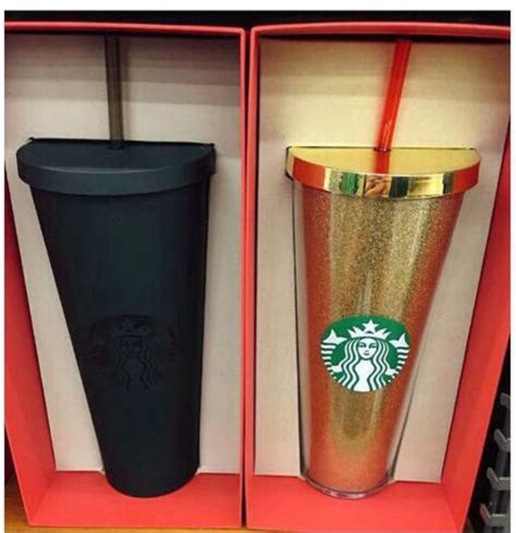 home accessory starbucks coffee cup matte black gold
