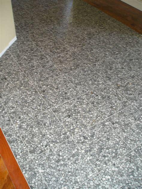 river rock floor tile