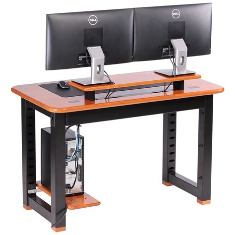 Small Desk Shelf Small Desk With Shelves Altra Cherry And Black Small Computer Desk With Shelf 9391096 Altra