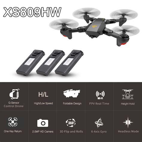 Drone Visuo Xs809hw Wifi 2 0mp visuo xs809hw wifi fpv 2 0mp 120 fov wide angle foldable