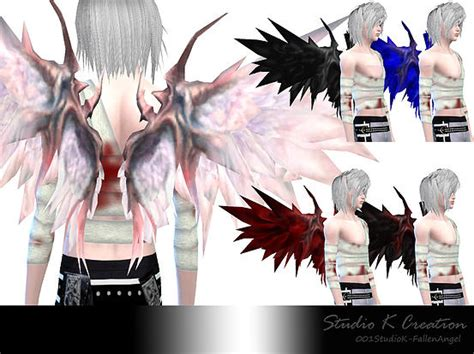 wings sims4 cc studio k creation fallen angel bloody bandage top for