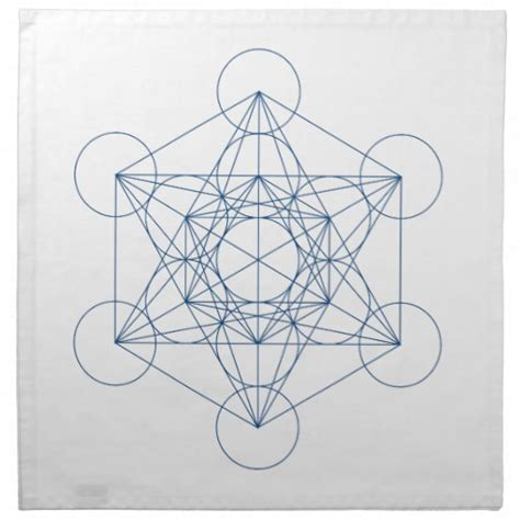 crystal grid cloth metatron s cube cloth napkin zazzle