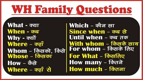 preguntas con until wh family question words in english wh questions