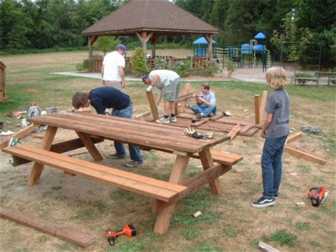 boy scout bench plans wood burning art patterns picnic table eagle scout