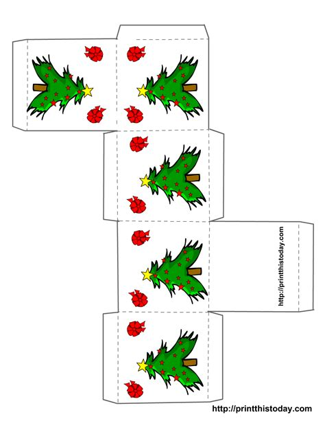 printable christmas boxes free printable christmas boxes