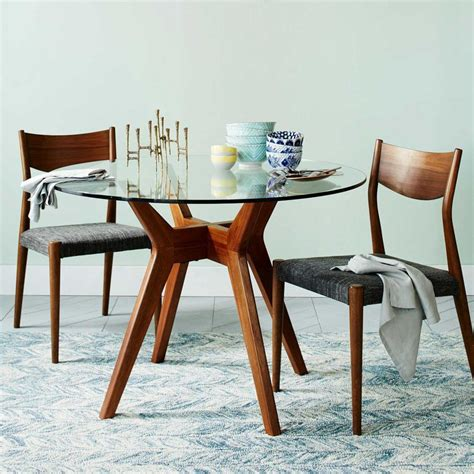 Round Glass Dining Room Table | jensen round glass dining table west elm uk
