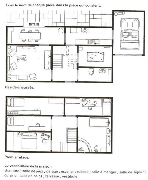layout plan en espanol fran 231 ais langue 201 trang 232 re a1 les pi 232 ces de la maison