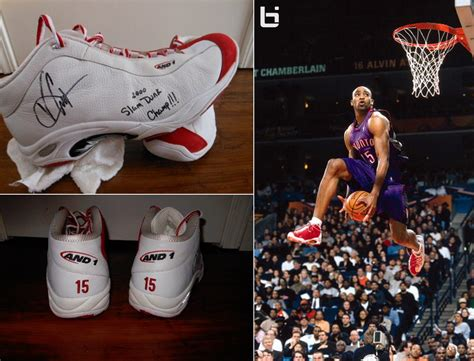 and1 shoes for sale vince carter s custom and1 shoes worn in the dunk contest