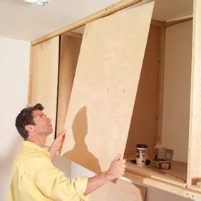 How To Build Sliding Doors For Cabinets by Build Sliding Cabinet Doors Plans Free