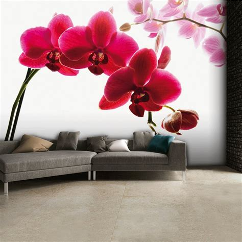 floral wall murals floral pink orchid flower wall mural 315cm x 232cm
