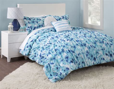 girl twin comforter blue floral girls twin xl bed comforter set flowers teen