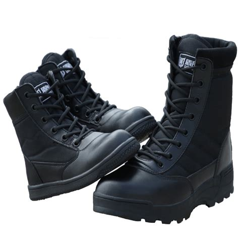 Army Shoes outdoor children tactical boots army shoes black