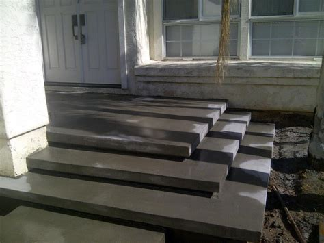 Cement Stairs forming the floating concrete steps yelp