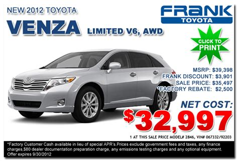 Frank Toyota Service New Vehicle For Sale New Toyota Dealer Serving Autos Post