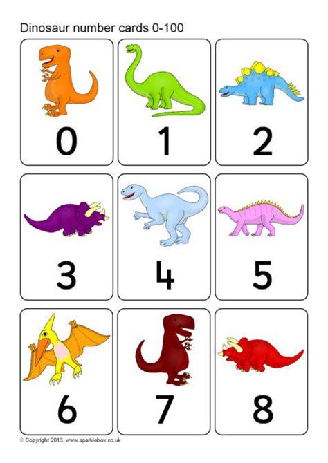 sparklebox printable number cards dinosaur number cards 0 100 sb9842 sparklebox