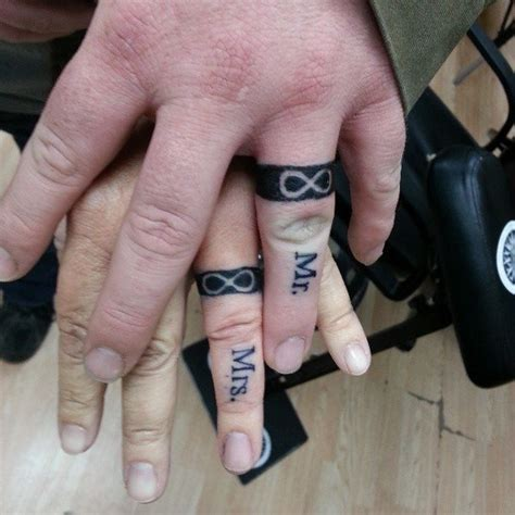his and her tattoos 78 wedding ring tattoos done to symbolize your