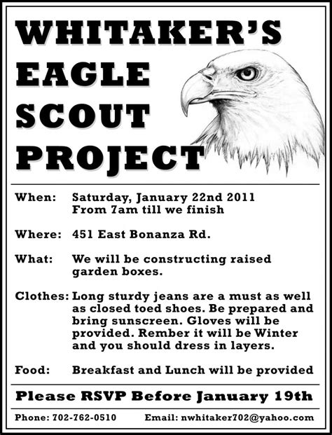 9 Best Photos Of Eagle Scout Service Project Flyer Eagle Scout Project Flyer Boy Scout Eagle Scout Flyer Template