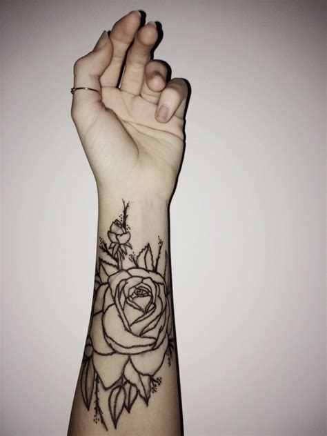 rose on arm tattoo forearm www imgkid the image kid has it