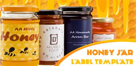 Quot Ode To The Honey Bee Quot Honey Jar Labels Aa Labels Blog Honey Jar Labels Template