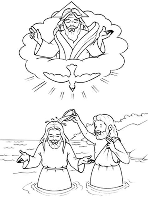 dibujos para colorear de ninos jesus imagenes del bautismo de jesus para colorear para ni 241 os