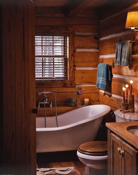 Log Cabin Bathrooms S Cozy Log Cabin In Montana Hooked On Houses
