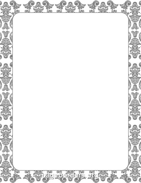 Jw Frozen Biru Muda Baby gray damask border clip page border and vector graphics