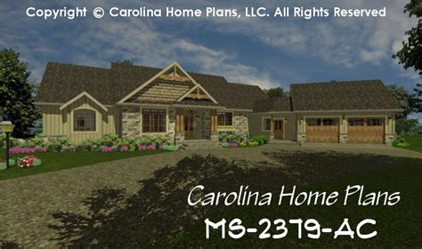 One Story House Plans With Two Master Suites by Midsize Craftsman House Plan Chp Ms 2379 Ac Sq Ft