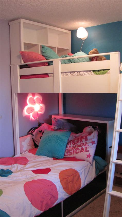white loft bed w bookcase and headboard diy projects