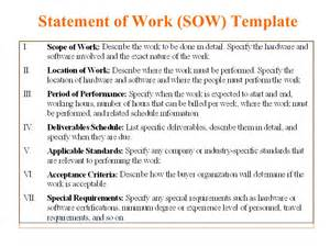 template for statement of work 5 free statement of work templates word excel pdf