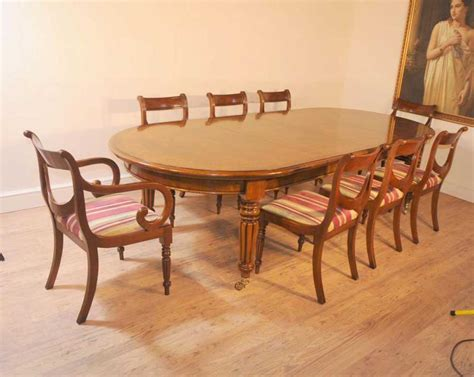 victorian table  regency chairs dining set