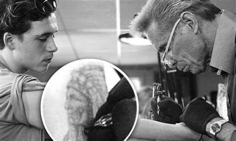 tattoo brooklyn beckham brooklyn beckham gets first tattoo choosing native