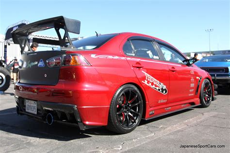 evo mitsubishi 2008 2008 tuned mitsubishi lancer evolution x with varis body