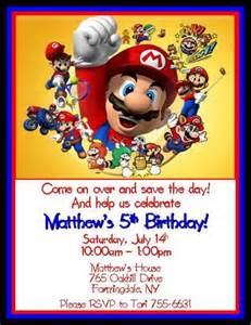 mario brothers personalized birthday invitations digital file thenotecardlady cards