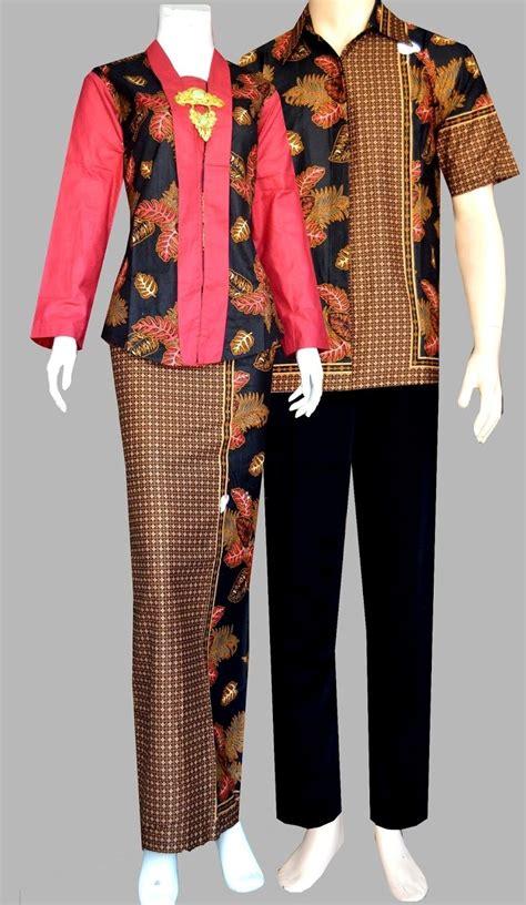 foto desain model baju batik batik pria dan wanita yang stylish alice dan louise