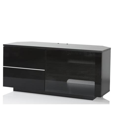 Black Tv Cabinet With Glass Doors Mayfair Corner Tv Cabinet In Black With Glass And Gloss