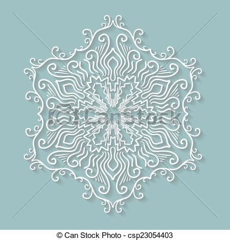 paper lace doily round crochet ornament stock vector vector clipart of paper lace doily decorative snowflake