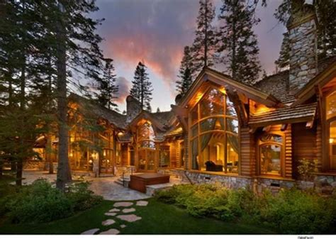 luxury cabin homes log home exterior love the tall windows and the stone