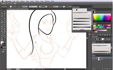 how to draw doodle in illustrator how to draw a pin up style space cartoonsmart