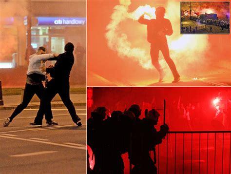Negara Anarkis warsawa membara akibat aksi anarkis perayaan kemerdekaan