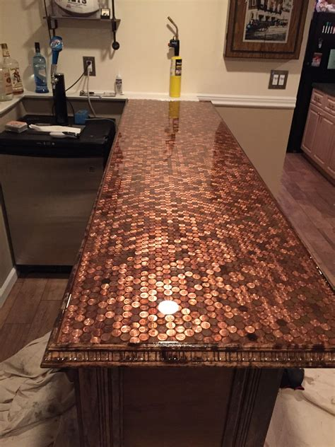 penny bar top indoor bar bar top epoxy bars  home