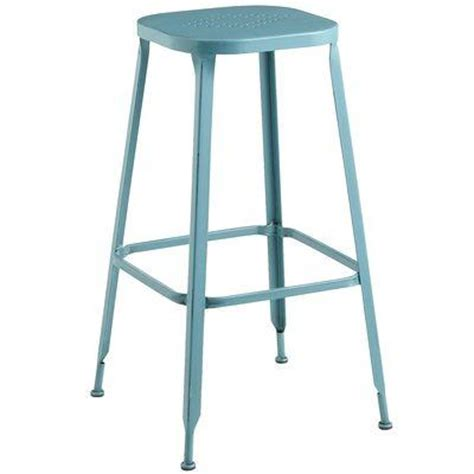 Teal Blue Bar Stools by Weldon Backless Barstool Teal I Pier One